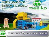 Meelko Extrusora para alimentos de perros 500-600kg/h 55kw MKED 120B.